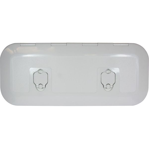 4Dek White Plastic Flush Inspection Hatch (515mm x 165mm)