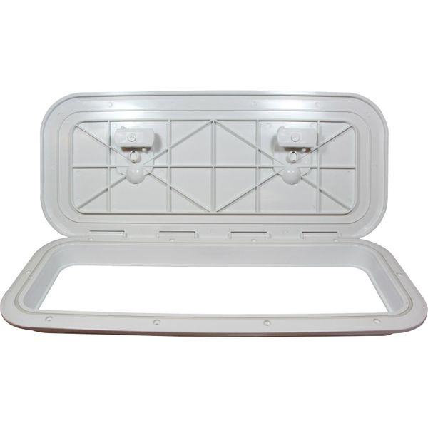 4Dek White Plastic Flush Inspection Hatch (515mm x 165mm)