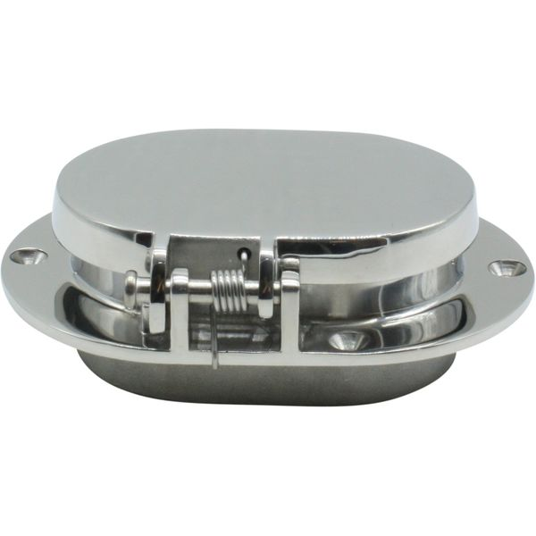 4Dek Stainless Steel Oval Hawsehole with Hinged Cover (137mm x 100mm)