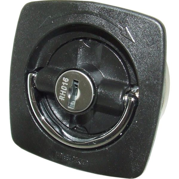 Perko 0931 Locking Flush Latch (With Number 2 Cam Bar & Keys / Black)