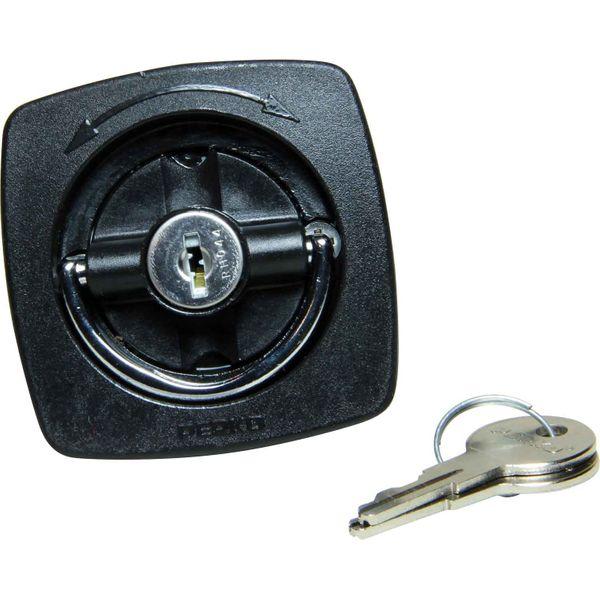 Perko 0931 Locking Flush Latch (With Number 3 Cam Bar & Keys / Black)