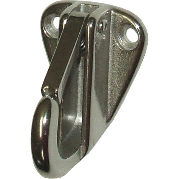 4Dek Stainless Steel Plate Hook with Spring Catch (10mm)