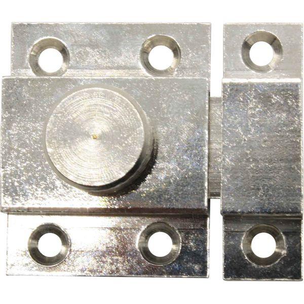 4Dek Nickel Plated Brass Locking Latch (35mm x 45mm)