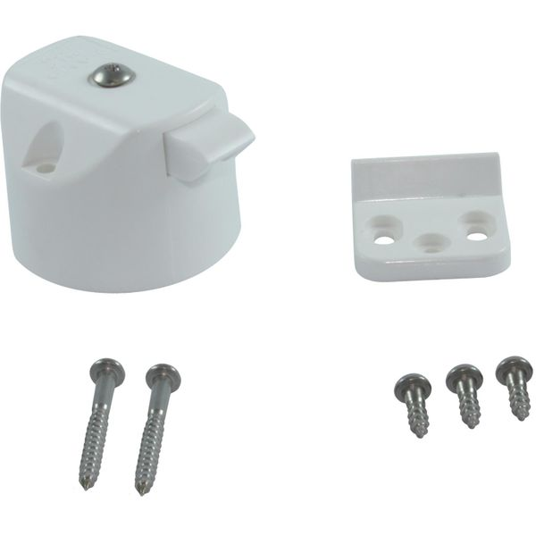 4Dek Knob Lock for Cabinet Doors & Drawers (White)