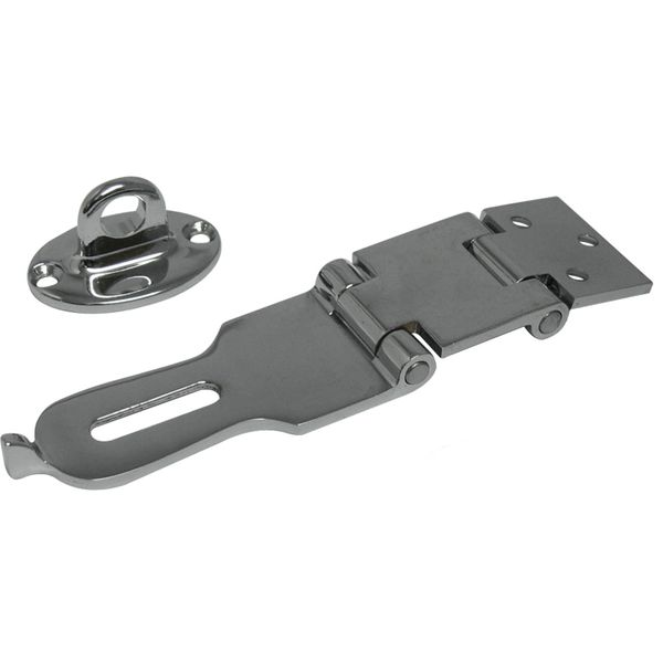 4Dek Chrome Plated Brass Folding Lockable Latch (140mm x 35mm)