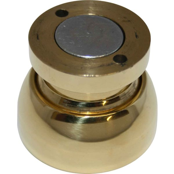 Foresti & Suardi Polished Brass Magnetic Door Stop (40mm Diameter)