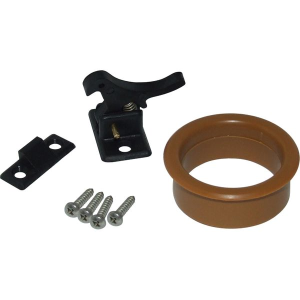 4Dek Door Latch With Trim Ring (Plastic)