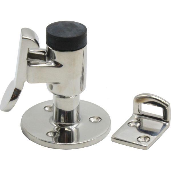 4Dek Stainless Steel 316 Door Stop with Bumper & Catch (61mm)
