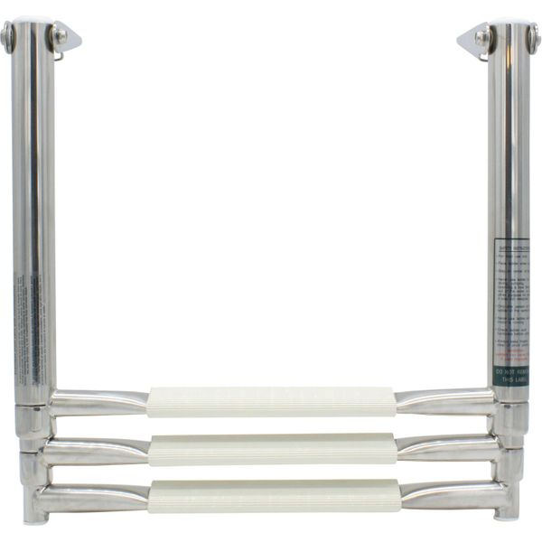 4Dek Stainless Steel Telescopic Ladder (889mm x 392mm / 3 White Steps)
