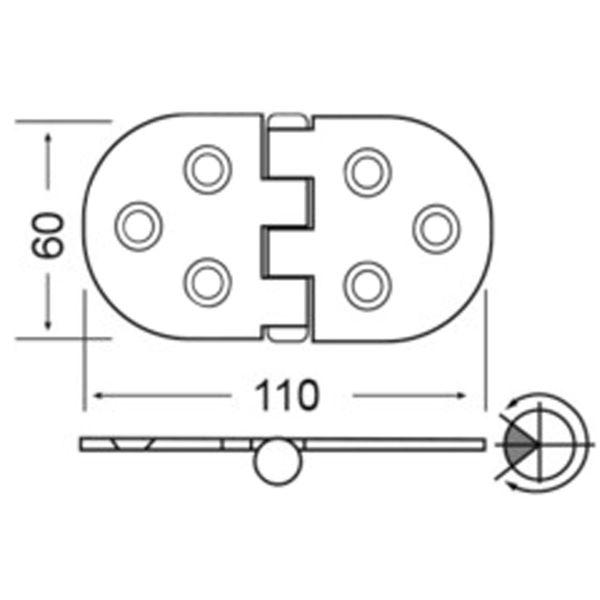 4Dek Stainless Steel Hinge (110mm x 60mm / Reversed Pin / Heavy Duty)