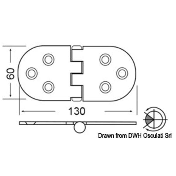 4Dek Stainless Steel Hinge (130mm x 60mm / Reversed Pin / Heavy Duty)