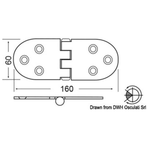4Dek Stainless Steel Hinge (160mm x 60mm / Reversed Pin / Heavy Duty)