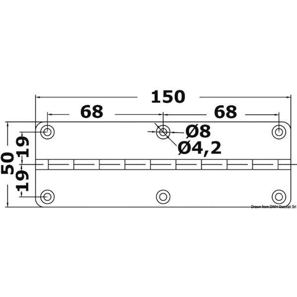 4Dek Stainless Steel Hinge (50mm x 150mm / Short Piano)