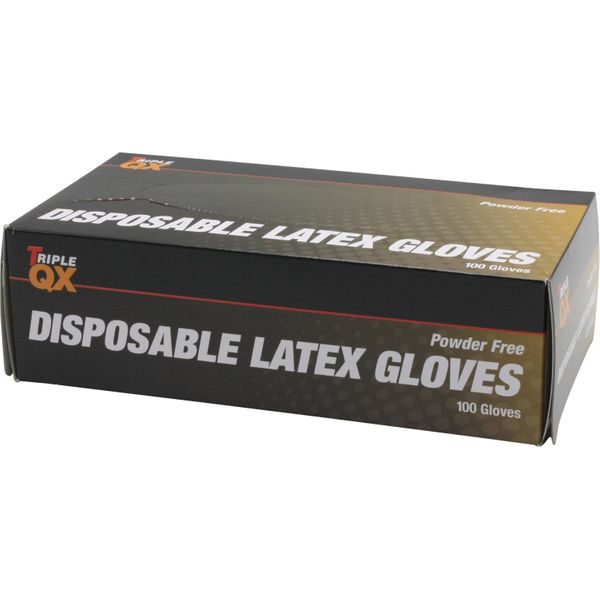 Triple QX Powder Free Latex Gloves (Large / Pack of 100)