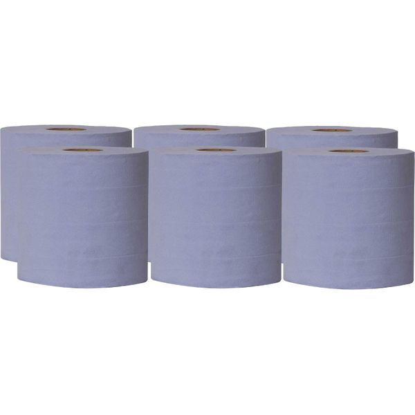 ASAP 2 Ply Blue Roll (150M / Pack of 6)