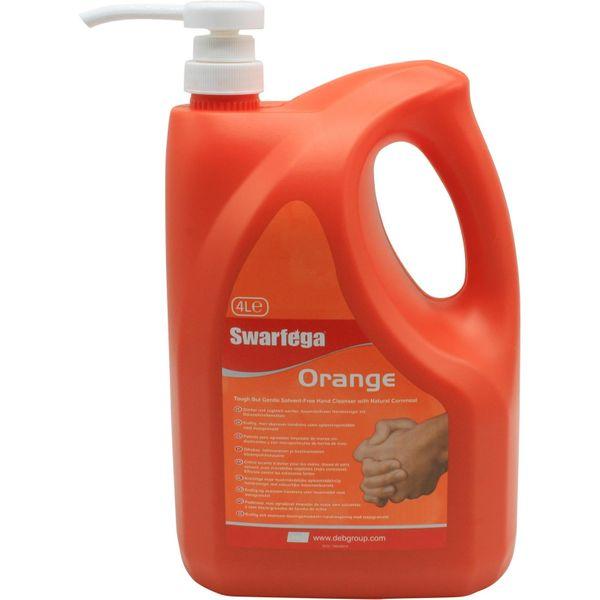 Swarfega Natural Orange Hand Cleaner (4 Litre Bottle with Pump)