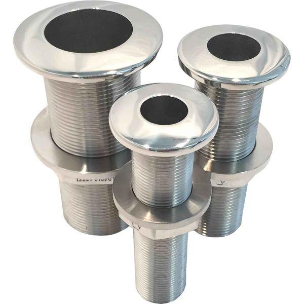 """Arctic Steel Skin Fitting 1-1/2"""" BSP in Stainless Steel 2205"""