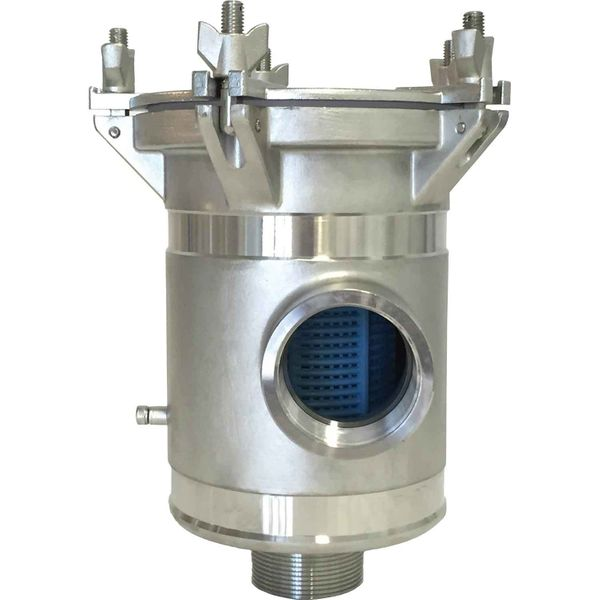 """Arctic Steel Strainer BISO 1"""" BSP with Clear Lid (2205 Stainless)"""