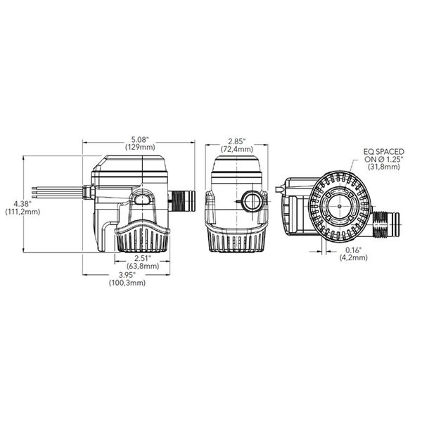 Rule Mate RM800B Submersible Bilge Pump (50 LPM / 12V)