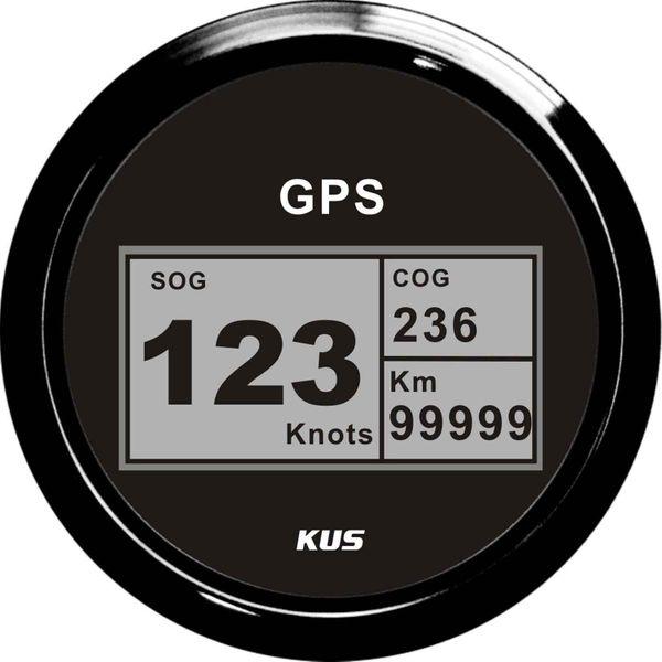KUS Digital GPS Speedometer 0-999 Knots, km/h or MPH (Black)