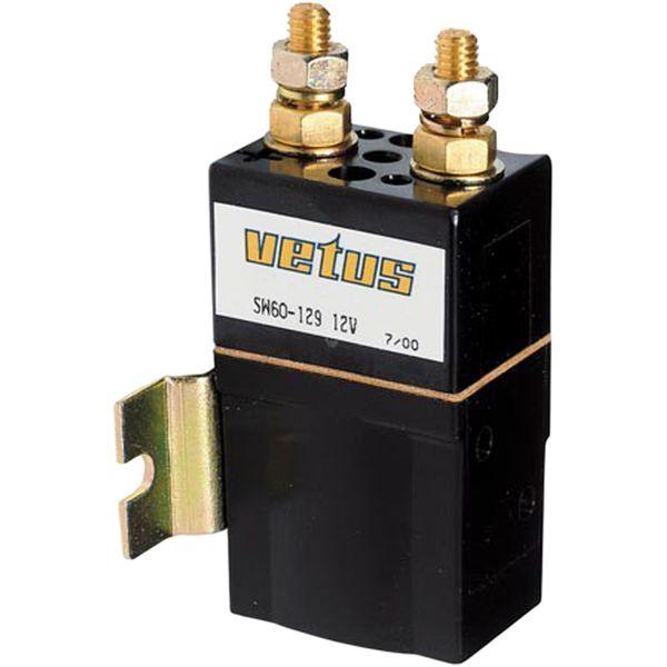 Vetus Single Solenoid Relay (12V / 1500W / M8)