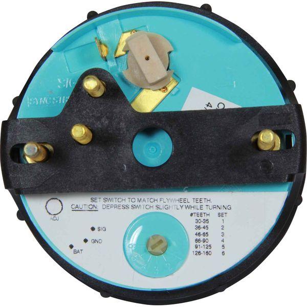 Faria Beede Tachometer Industrial Black (4000RPM / Magnetic Flywheel)