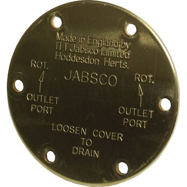 """Jabsco 11830-0000 Pump End Cover Plate for 3/4"""" Pumps"""