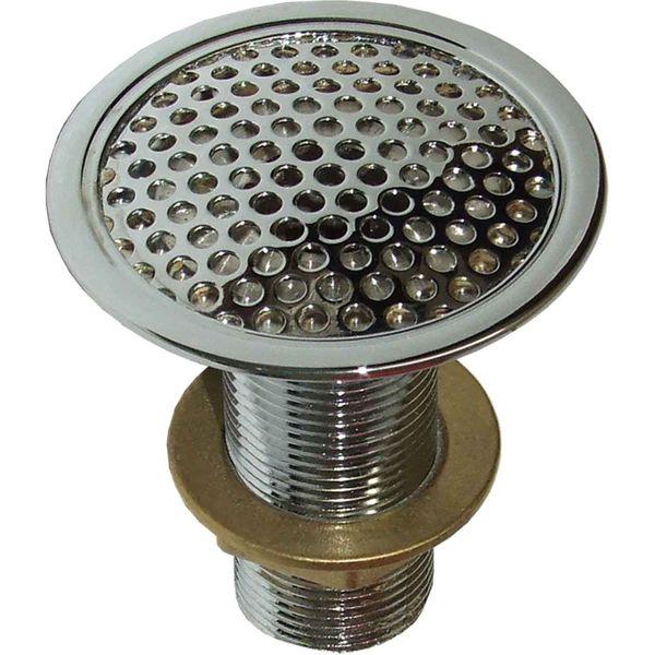 "Perko 0361 Chrome Plated Bronze Flush Deck Drain (3/4"" NPT)"