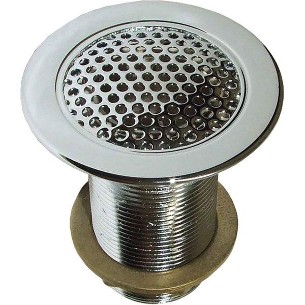 "Perko 0361 Chrome Plated Bronze Flush Deck Drain (1-1/4"" NPT)"